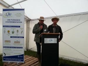 Jérôme Vandewalle, président de l'UCAL et Christophe Chavot, président du groupe Eurea