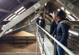 Visite Groupe Nicot - silo gannat - Corine Jasserand - Responsable QSE UCAL