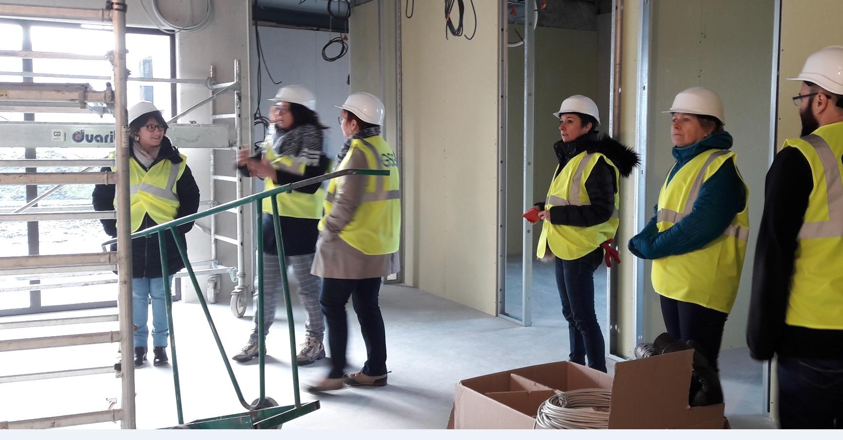 Nouveaux bureaux ucal nature et jardin - visite de chantier novembre 2019